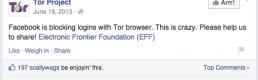 Facebook in the Spotlight of the Dark Web
