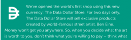 Using Personal Data to buy Art: The Data Dollar Store