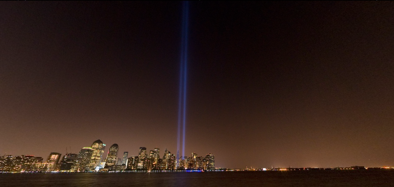 9/11 Tribute in Light memorial