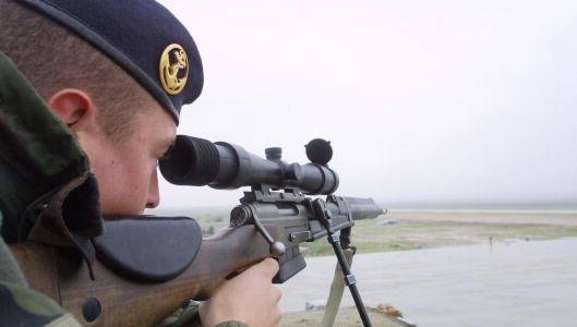 Soldier with rifle and scope 2