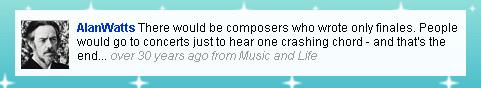 Alan Watts, Music and Life