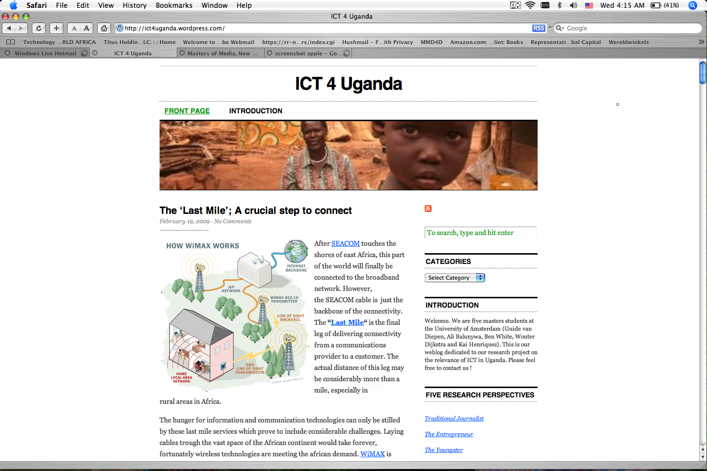 Research Project: ICT 4 Uganda