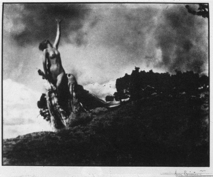 Anne Brigman's Soul of the Blasted Pine.  What distinguishes early amateur photography from that found on Flickr?