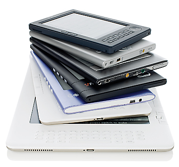 Stack of ebooks