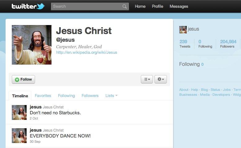 Jesus on Twitter