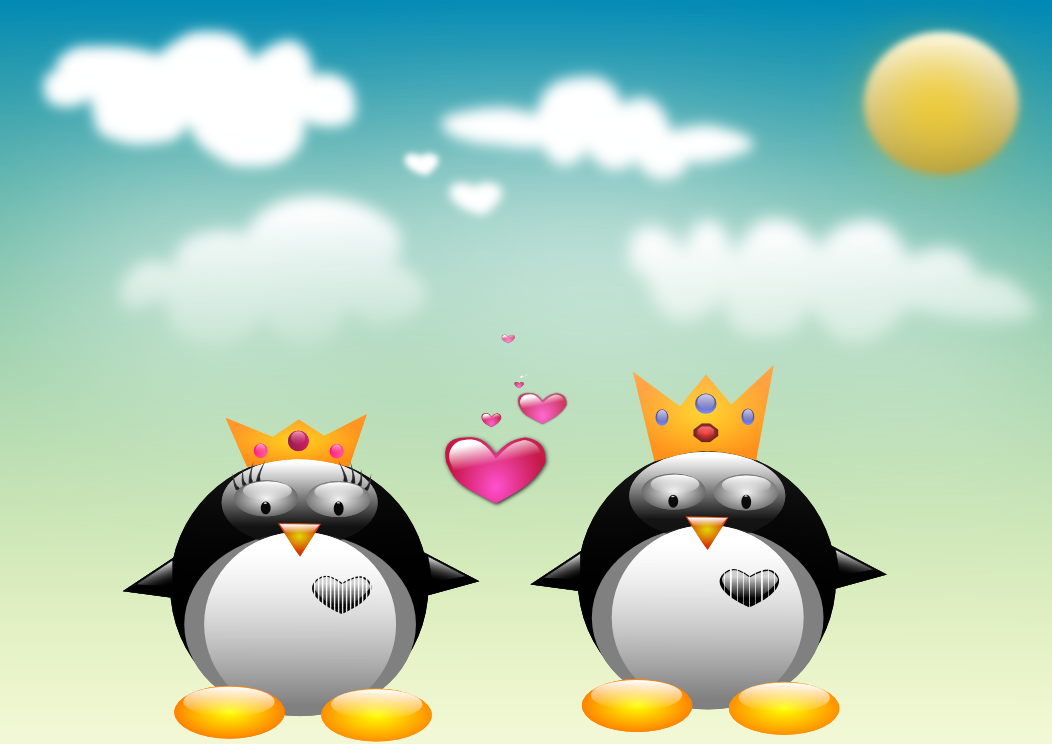 Queen & King penguin