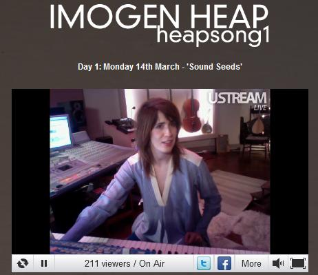 Imogen Heap - heapsong1 on Ustream
