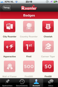 Roamler Badges