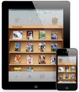 The Newsstand app for iPad and iPhone
