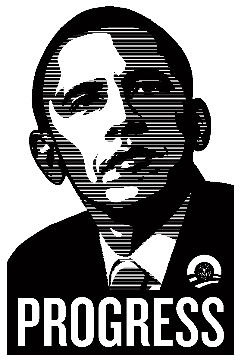 progress hope change and obey technological reproducibility in obey barack obama progress poster