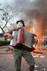 Protest in Brazil 2013