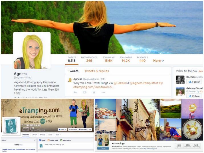 eTramping.com - Facebook, Twitter, Instagram
