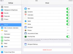 iCloud Settings: don't store your pics online