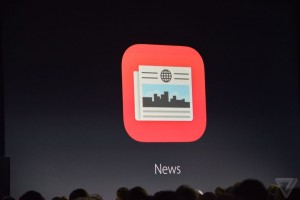 Presentation of Apple News during the Keynote in September 2015