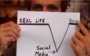 Neistat explaining how Beme is closer to shoing what real life is in comparison to other forms of social media.
