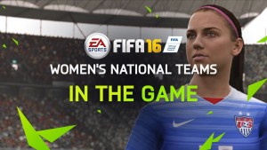Alex Morgan FIFA16 Cover