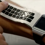 A rollout keyboard attached to a smart watch (Reuters, youtube.com)