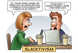 Image 2: Cartoon on Slacktivism