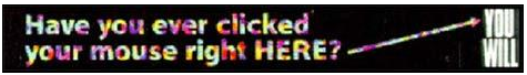 Figure 1: HotWired banner ad