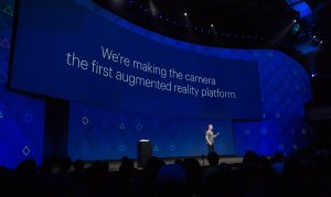 Mark Zuckerberg announcing the platformization of AR