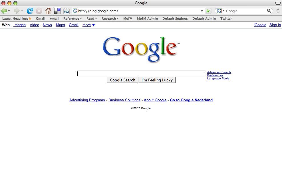 Blog.google.com is Google