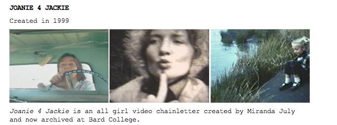 Miranda July/video-chain letter