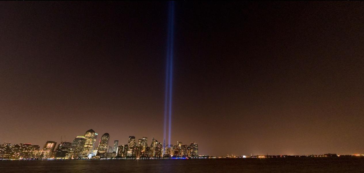 9/11 Tribute in Light memorial