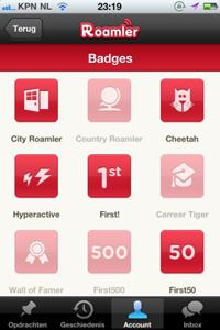 Roamler Badges