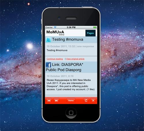 The MoMUvA app in Xcode
