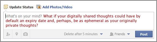 Facebook status update box