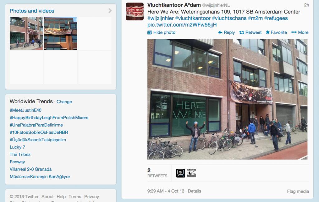 Fig. 2. XXX. (Screen Shot taken on 4 Oct. 2013, 21:22:06 of https://twitter.com/wijzijnhierNL/status/386168625620451328)