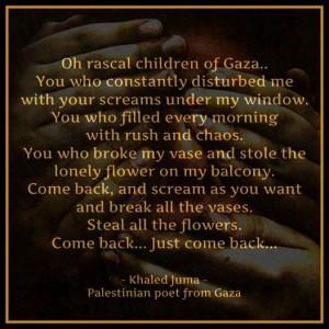 Khaled Jumaa Poem  when grieving the four kids