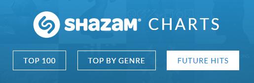 Shazam future hits