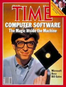 Bill Gates showing off his skills