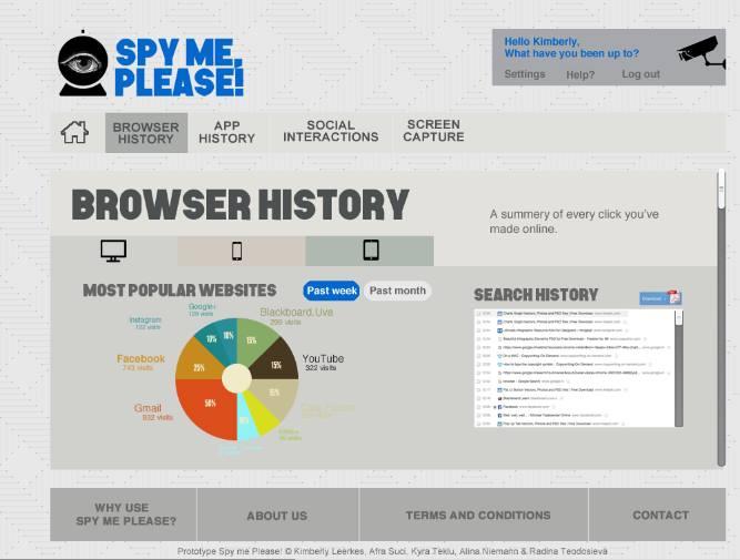 Browser History Menu
