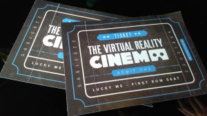 Tickets for The Virtual Reality Cinema