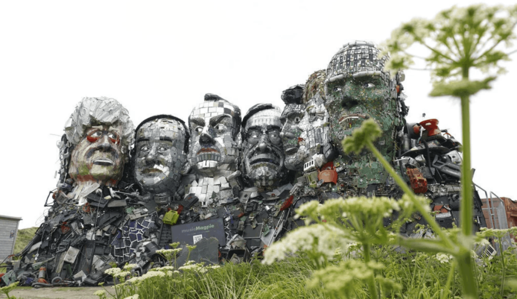 Mount Recyclemore, the giant sculpture of the G7 leaders by Jon Super/AP